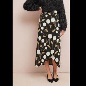 Maeve Anthropologie maxi skirt art deco print